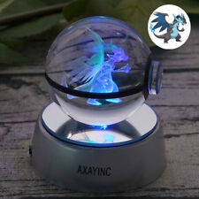 Crystal Ball Pokemon GO Mega Charizard X Pokeball LED Night Light 3D Lamp 50mm