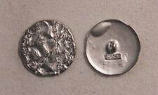 "Set of 6 JHB Intl Silver Round Metal Buttons Funky 1-1/8"" or 28 mm lyk0066"