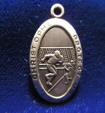 St. Christopher Protect Us FOOTBALL Medal Sterling  Blank Back for Engraving