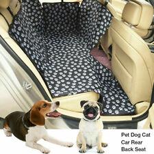 Waterproof Pet Dog Car Seat Cover Back Rear Protector Hammock Mat Blanket Black