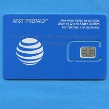 New At&T Prepaid &Postpaid 4G & 5G Triple Sim Card 3 In 1 - mini, micro, or nano