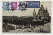D.Reich Flugpostkarte JENA 1931 n. BRUXELLES, Belgien (44799)