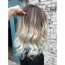 Ombre Balayage Brazilian 100% Real Human Hair Wigs Wavy Blonde Charm Fashion Wig