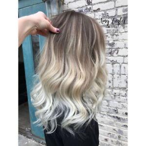 Ombre Balayage Brazilian Human Hair Wigs Wavy Blonde Charm Fashion Wig