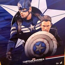 Hot Toys MMS243 Captain America and Steve Rogers Deluxe Set  - New - Open Box