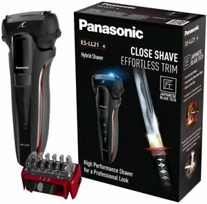 Panasonic ES-LL21 Hybrid Wet and Dry Rechargeable Electric 3-Blade Shaver & Trim