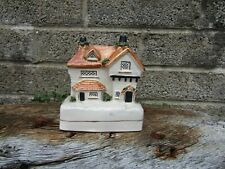 More details for antique staffordshire money box - late 19th century pottery house shape