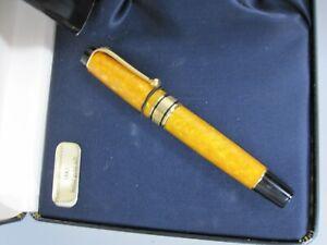Aurora 18k Nib Fountain Pen in Box, #7049 Irridescent  Orange/Gold Marbled Body