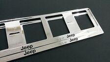 2X JEEP EUROPEAN LICENSE NUMBER PLATE SURROUND FRAME HOLDER.
