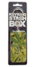 Novelty Pot Leaf Design Key Ring With Stash Box