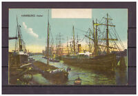 Ansichtskarte - Hamburg - Hafen - Segelschiffe