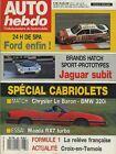 AUTO HEBDO n°686 du 25 Juillet 1989 BMW 320i CAB MAZDA RX 7 CAB CHRYSLER LEBARON