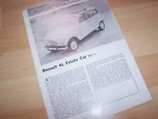 "Prospectus ""Reprint"" Brochure RENAULT 4L 1963 //"