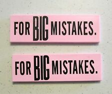 2 NEW LARGE ERASERS FOR GREAT BIG MISTAKES NOVELTY GAG GIFT SCHOOL PARTY FAVORS