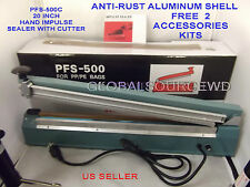 "20"" Inch PFS-500C Hand Impulse sealer with cutter Anti-Rust Aluminum Shell"