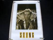 Sting Police Dream Blue Turtles 1985 Vintage Poster