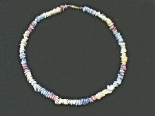 NECKLACE,VINTAGE,GENUINE BEACH STONE,HAND CRAFTED,W/ POUCH,FREE SHIPPING!!!!