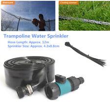 12M Trampoline Water Game Sprinkler Garden Cooling Kids Fun Spray Summer Party