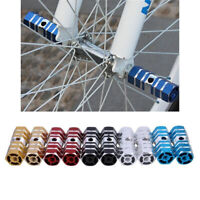 BMX Hexagonal Stunt Pegs Alloy Anodised MTB Bike Axle Pedal Aluminum Alloy Pegs