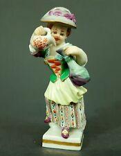 Meissen Figur, Gärtnerkind, Mädchen mit Flasche und Krug, 1.Wahl, Mod-Nr: 60431