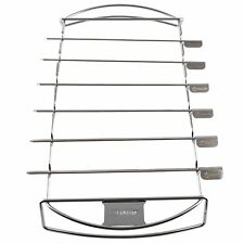 Zenware Stainless Steel Barbecue Kabob Skewers and Rack Set for BBQ Shish NEW