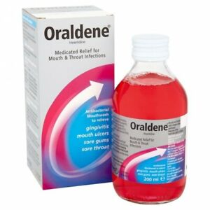 Oraldene Original Antibacterial Mouthwash for Mouth & Throat Infections 200ml