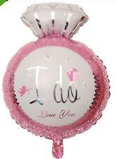 I DO Wedding Balloon Bridal Shower Engagement Ring Foil Helium Decoration large