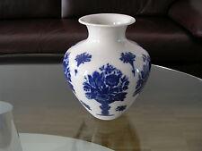 Heinrich Bavaria Selb Vase Flower Vase Weiß White Kobalt Cobalt 1940 Fourties