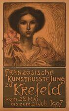 Original Plakat - Französische Kunstausstellung zu Krefeld, Steinlen Théophile A