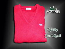 "Lacoste Vintage Men's ""Izod Lacoste"" MEDIUM Scarlet Sweater 100% Orlon"