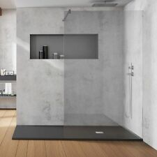 Black Slate Textured Anti-Slip Shower Tray 1500x800mm & 1000mm Wet Panel