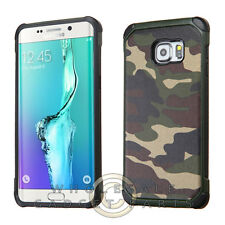 Samsung Galaxy S6 Edge Plus Advanced Armor Case-Camouflage Green/Black
