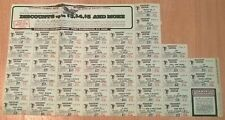 RAA366 Commercial Labels Coupons 1972 USA (part of Sheet)  MNH Cinderella