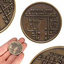 CW Morse Code Decoder Chart Medal Commemorative Bronze Alloy Steel Coin Gift