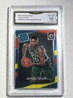 JAYSON TATUM ROOKIE CARD - 2017 RATED ROOKIE - RED/YELLOW OPTIC - GRADED GEM 10