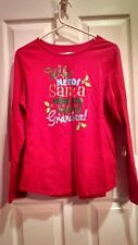holiday time shirt Christmas shirt size L 12-14 great condition