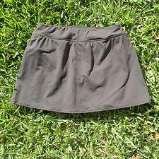 "Lands End 13"" Modest Swim Skirt - Tummy Control Panty - Dark Brown - Womens 4"