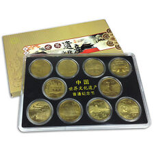 China lot 10 coins set, 5 Yuan 2002-06, UNC>World cultural heritage, In Box