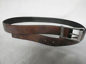 NEW JOHN LOBB Reversible Black / Parisian Brown Leather 32mm Wide Size 105 £395