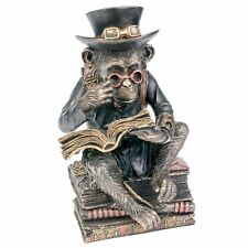 Chimpanzee Scholar Steampunk 18cm High Bronzed Finish Nemesis Now Steam Punk