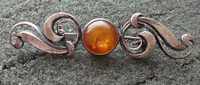 Vintage    BALTIC  HONEY    AMBER pin brooch WOMEN  rare