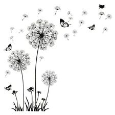 Wall Stickers Butterfly Flying In Dandelion Bedroom Living Room Decoration