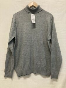 BNWT Next Turtleneck Jumper Grey Roll Neck Slouch Sweater RRP £22 Size Large
