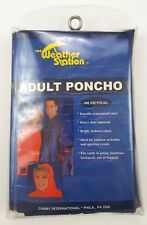Adult Poncho Blue New Weather Station Vinyl 3100 Chaby International Waterproof