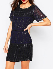 Warehouse Beaded Dress - UK 8