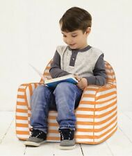 P'kolino Little Reader Children Orange White Kids Stuffed Striped Chair