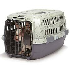 TRAVEL DOG CARRY CRATE Small Plastic Secure Pet Carrier for Airline Car Home