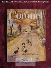 CORONET November 1956 AUDREY HEPBURN JAMES DEAN BILLIE HOLIDAY Horse Racing