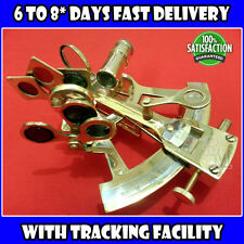 "4"" Brass Sextant Nautical Vintage Telescope Pirate Navigation Hiking Campin sa38"