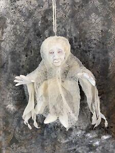 Halloween Ornament Little Ghost  Artist Pat Benedict OOAK